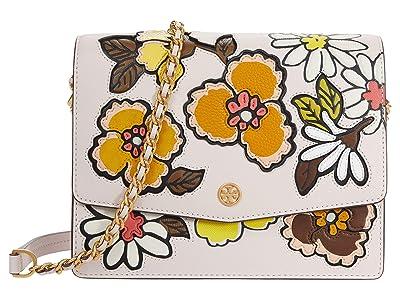 Tory Burch Robinson Applique Convertible Shoulder Bag (Ballerina Pink) Handbags