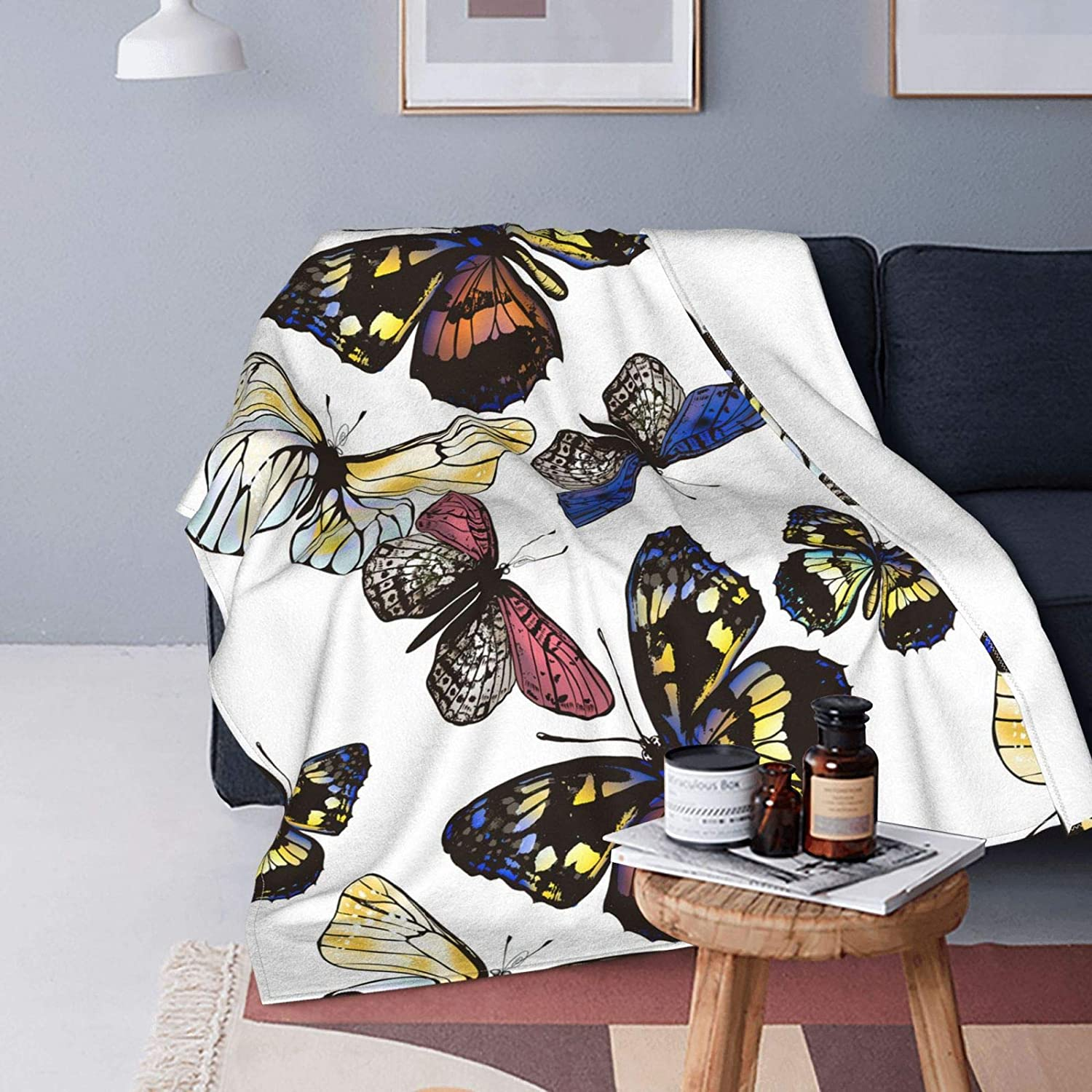 Monarch Butterfly Ultra-Soft Micro Fleece Max 47% OFF Light Blanket OFFicial shop Flannel