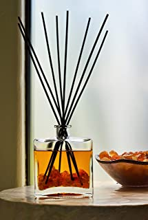 Manu Home Frankincense and Myrrh Reed Diffuser ~ A Light, airy Fragrance with Frankincense, Myrrh, Sandalwood, Musk and Amber ~ Clean Scent. Made in USA