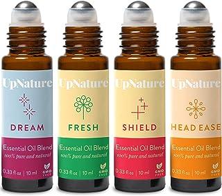 Wellness Essential Oil Roller Set - Migraine Relief, Thieves Oil, Sweet Dreams, Citrus Essential Oil - Easy Application, P...