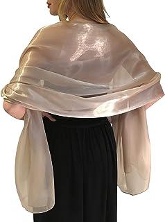 Central Chic Atemberaubende Silky Iridescent Hochzeit Abschlussball Brautjungfern Wraps Stola Schal Pashmina