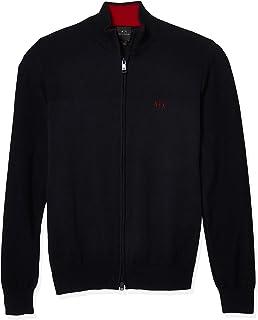 A|X Armani Exchange Men's Full Zip Mock Neck Sweater