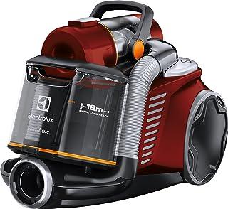 Electrolux - Aspirador sin Bolsa Ultraflex, Sistema Motion Control, Hygiene Filter 12, 1.6 L con Cepillo Mini Turbo Rojo