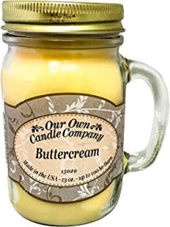 Our Own Candle Company Buttercream Scented 13 Ounce Mason Jar Candle