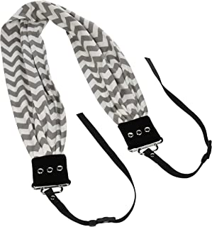 Capturing Couture SCARF-CVGG Chevron Scarf Collection Camera Strap, Grey