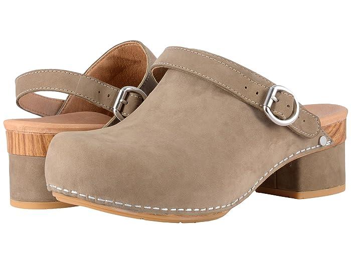 70s Shoes, Platforms, Boots, Heels Dansko Marty Taupe Milled Nubuck Womens Shoes $139.95 AT vintagedancer.com