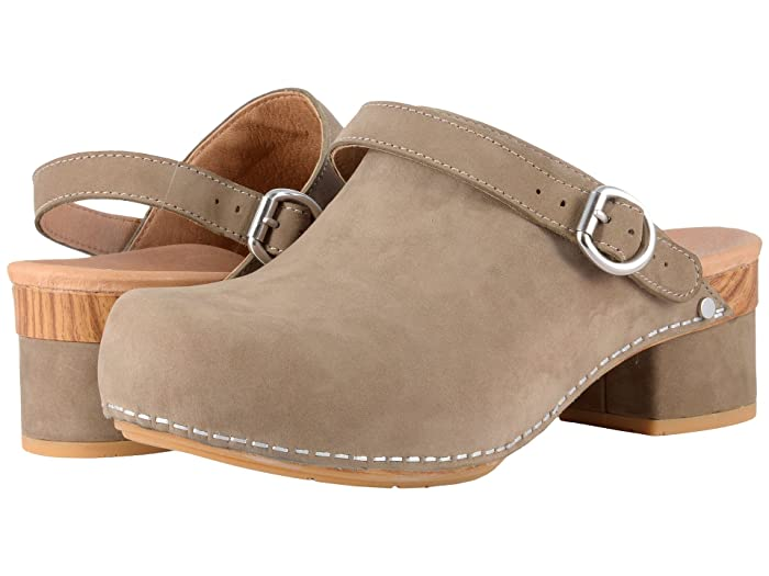 60s Shoes, Boots Dansko Marty Taupe Milled Nubuck Womens Shoes $139.95 AT vintagedancer.com