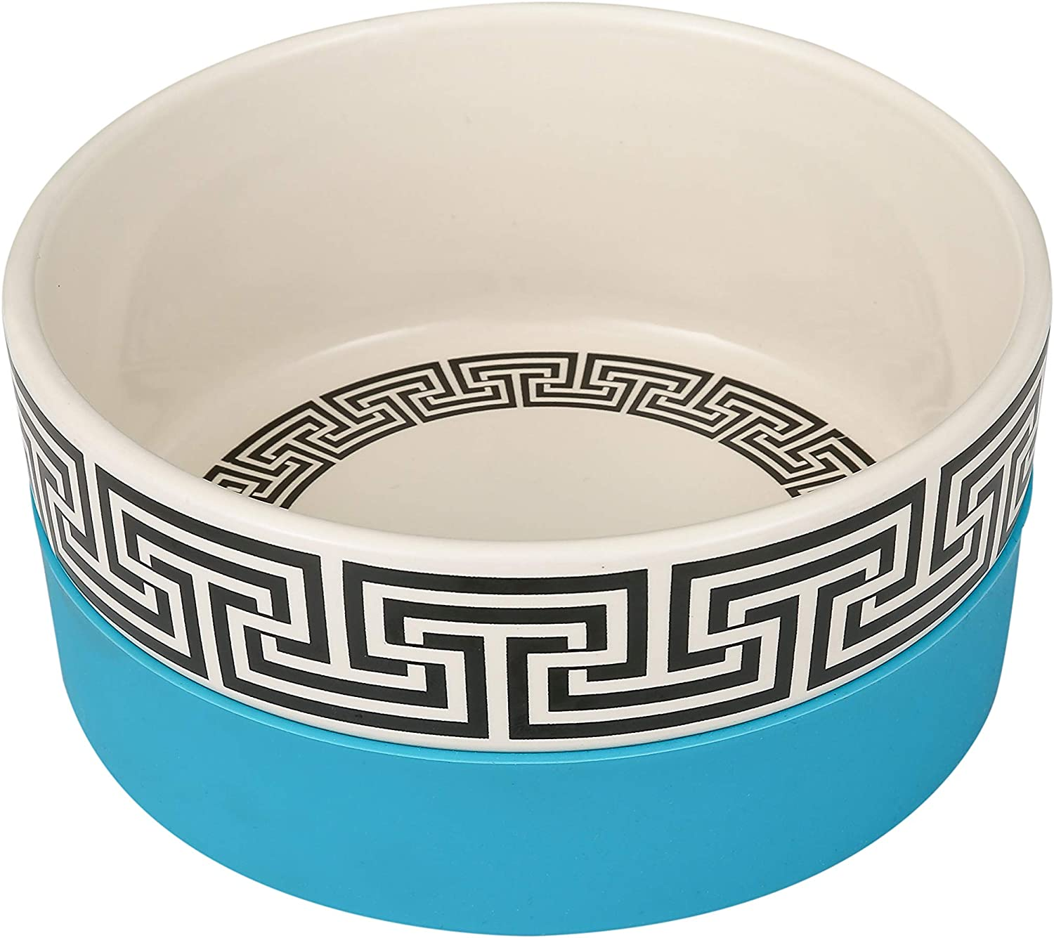 Now House for Pets by Jonathan Adler Duo Dog Bowl, Cute Ceramic Dog Food Bowl from Now House by Jonathan Adler for Water or Food, Available in Multiple Sizes