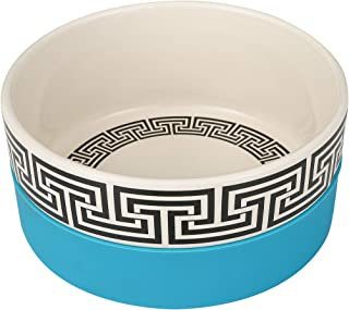Now House for Pets by Jonathan Adler Greek Key Duo Dog Bowl, Small   Cute Ceramic Dog Food Bowl from Now House by Jonathan...