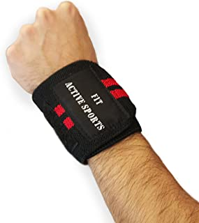 Fit Active Sports Wrist Wraps Professional Grade with Thumb Loops. Wrist Support Braces for Men and Women,  Wrist Wrap Crossfit,  Powerlifting,  Weight Lifting,  Strength Training