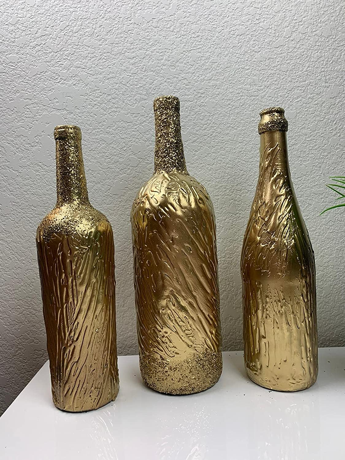 Handcrafted Decorative Bottle Set - Gold Spring new work one after another New arrival Pattern