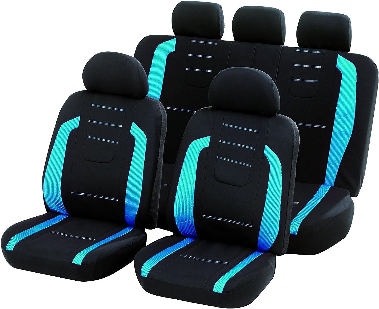 Unitec 84984 Sitzbezugset Fashion Iceblue 14 Teilig Auto