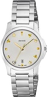 Gucci - Reloj Análogo clásico para Mujer de Cuarzo con Correa en Acero Inoxidable YA126572