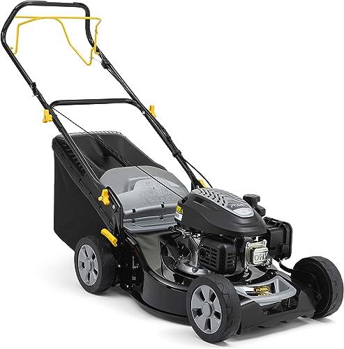 Alpina Cortacésped de gasolina AL5 46 SA, Ancho de corte 46 cm, Motor de 139 cc (2200 W) con tracción posterior, Hast...