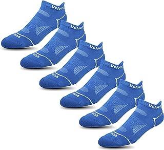 Veloce Athletics Ankle Socks for Men & Women: Cool-Silver Anti-Odor Training & Running Comfort Sock