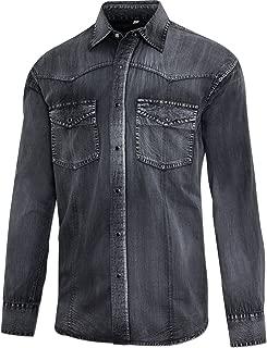 Westernhemd Cowboy-Hemd Country Biker Hemd »JAYDEN« Karo Herren Stars /& Stripes