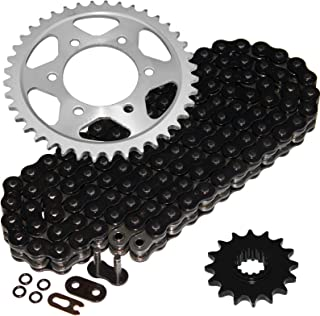 Caltric Black O-Ring Drive Chain & Sprockets Kit Fits HONDA CBR600F4i CBR-600F4i CBR600 F4i 2001-2006