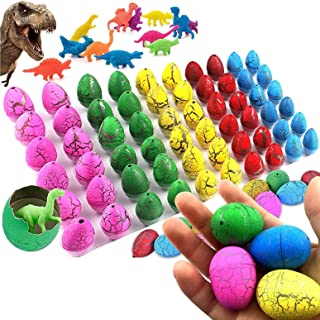 Mumoo Bear 60 Pack Dinosaur Eggs Hatching Dino Egg Grow in Water Crack with Assorted Color Pool Games Toys & Water Fun Bir...