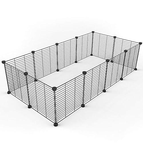 Tespo Parque para perros, cerca de patio portátil de alambre de metal para animales pequeños