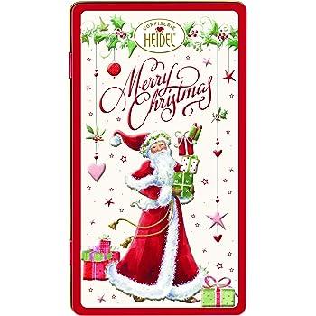 Heidel Caja de leche de chocolate superior caja de regalo de metal regalo de Navidad: Amazon.es: Electrónica