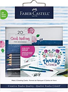 Faber-Castell 20 Minute Studio Card Making for Beginners –  5 Watercolor Pencils Included