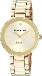 Anne Klein Women's Genuine Diamond Dial Bracelet Watch