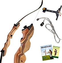 KESHES Takedown Hunting Recurve Bow and Arrow - 62 Archery Bow for Teens and Adults, 15-60lb Draw Weight - Right and Left ...