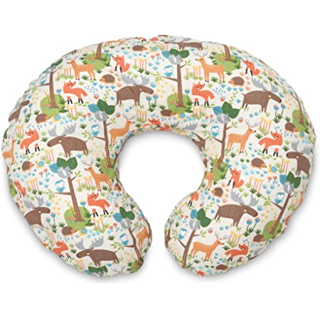 Boppy Nursing Pillow Cover—Original | Earth Tone Woodland | Cotton Blend Fabric | Fits Boppy Bare Naked, Original and Luxe Breastfeeding Pillow | Awake Time Only