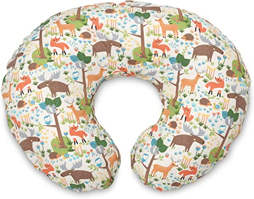 Boppy Original Nursing Pillow Cover, Earth Tone Woodland, Cotton Blend Fabric with Allover Fashion, Fits All Boppy Nu...