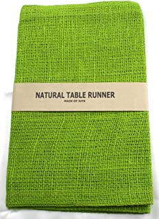 Kel-Toy Burlap Jute Table Runner/Fold and Sew Edge, 14 by 72-Inch, Apple Green