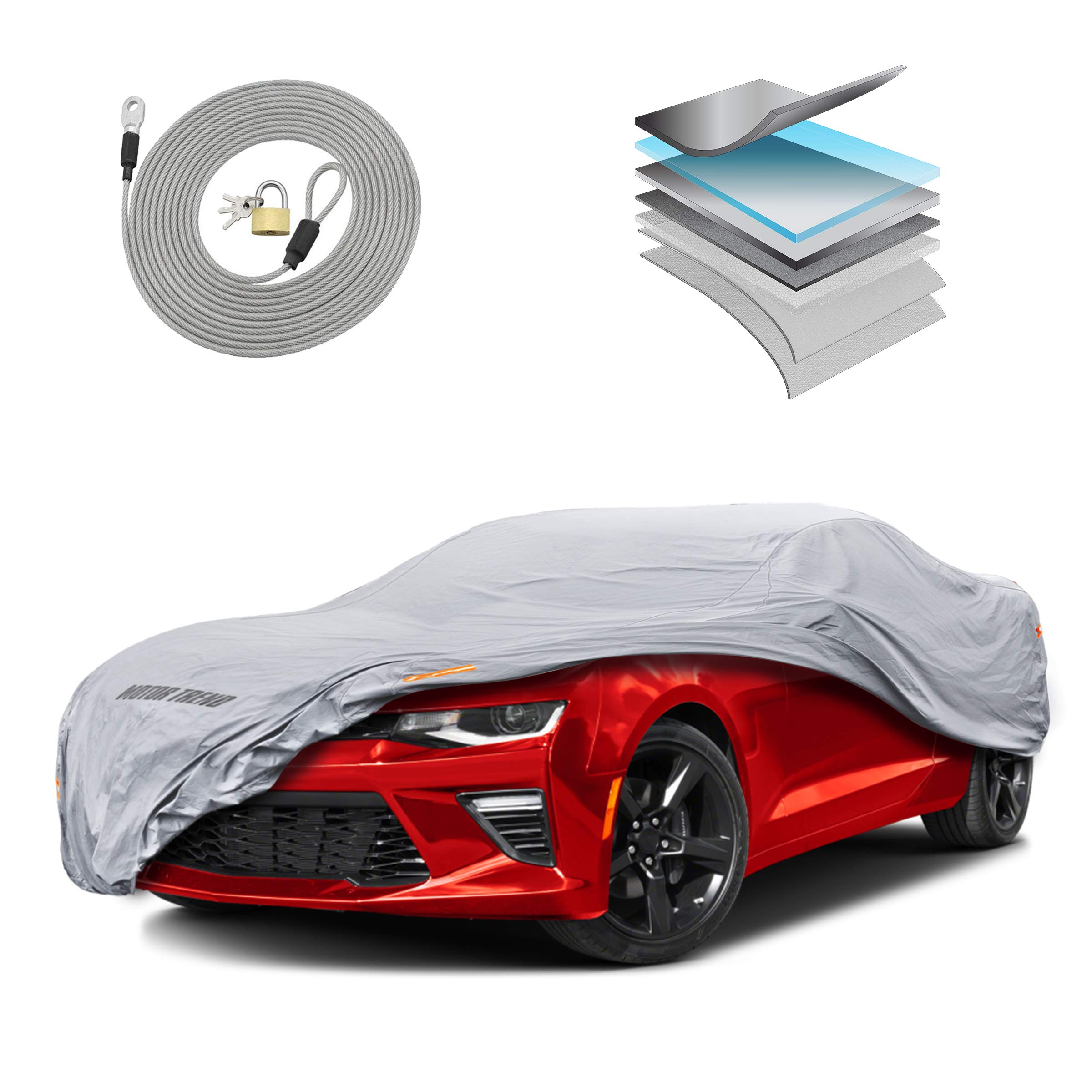 5 Layer Custom Fit Car Cover for Chevrolet Chevy Camaro Model Year 2010-2020