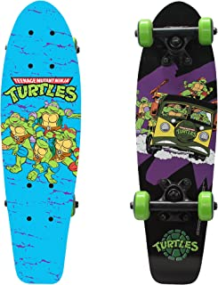 """PlayWheels Teenage Mutant Ninja Turtles 21"""" Wood Cruiser Skateboard, Turtles on the Go"""