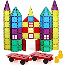 Magnetic Stick N Stack Award Winning 120 Classic Plus Set with 2 Car Bases Windows, Doors, Fences, and More!