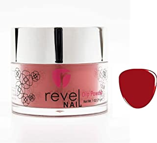 Revel Nail Dip Powder | for Manicures | Nail Polish Alternative | Non-Toxic & Odor-Free | Crack & Chip Resistant | Can Last Up to 8 Weeks | 1oz Jar | Creme Color | Monica