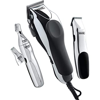 Wahl Clipper Home Barber Kit Model 79524-3001, Electric Clipper, Touch Up Trimmer & Personal Groomer – 30 Piece Kit for Professional Style Haircutting at Home –