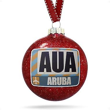 NEONBLOND Christmas Decoration Airportcode AUA Aruba Ornament