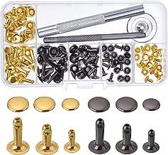 SNOWINSPRING 120 Teile//Satz M2.4 M3.0 M3.2 M4 Schwarz Aluminium Blind Nieten Nagel Dekoration Nieten F/ür M?bel Sortiment Kit Hw078