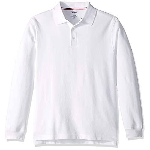 00872a359 French Toast Boys  Big Long Sleeve Pique Polo Shirt