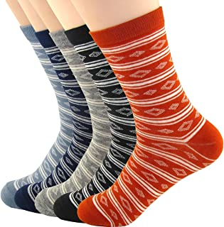 XSBQBC Men's Novelty Casual Cotton Crew Socks (Pack of 5)