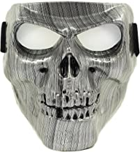 Vhccirt Motorcycle Protective Mask With Polarized Goggles Skiing Goggles Mask Halloween Skull Mask