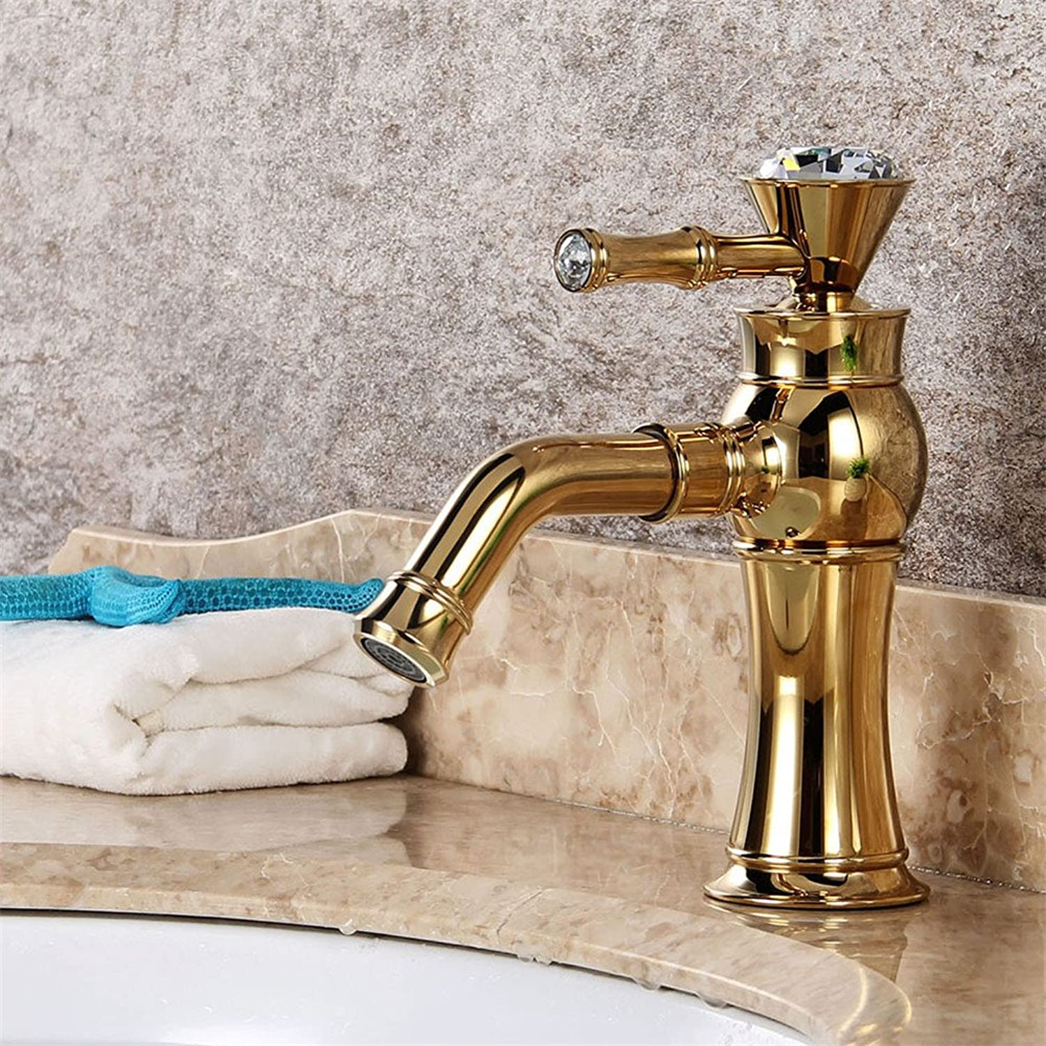 Hlluya Professional Sink Mixer Tap Kitchen Faucet The copper basin faucet golden dragon water drilling and cold water faucet