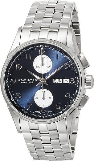 ساعة هاميلتون جازماستر مايسترو كرونوغراف اتوماتيكية مينا زرقاء للرجال H32576141