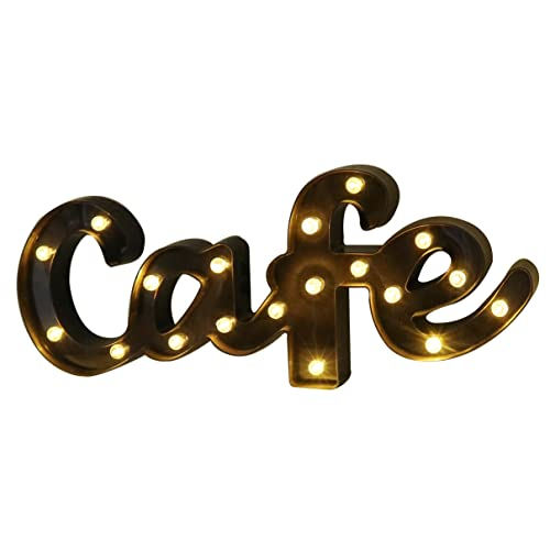 Decorative LED Illuminated Marquee Letter Sign Cafe 212 X 866 157