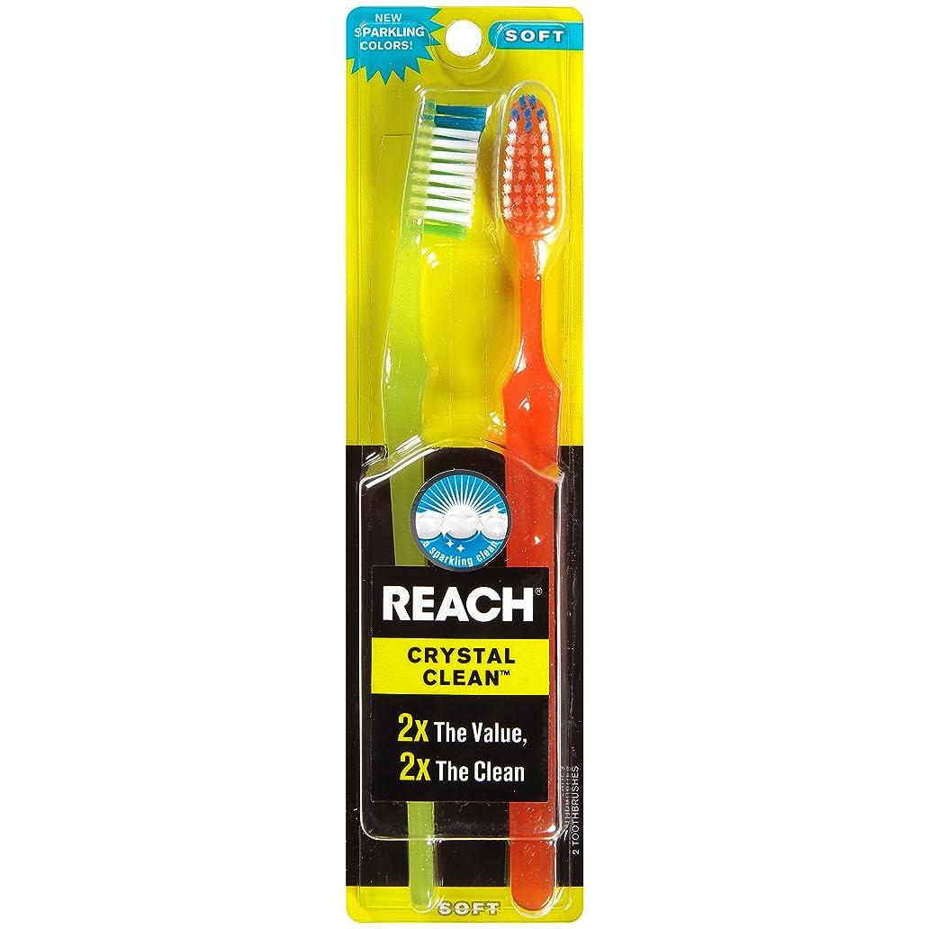 あいにく災難チャレンジReach Toothbrush Crystal Clean Soft Twin (6 Pieces) by Reach