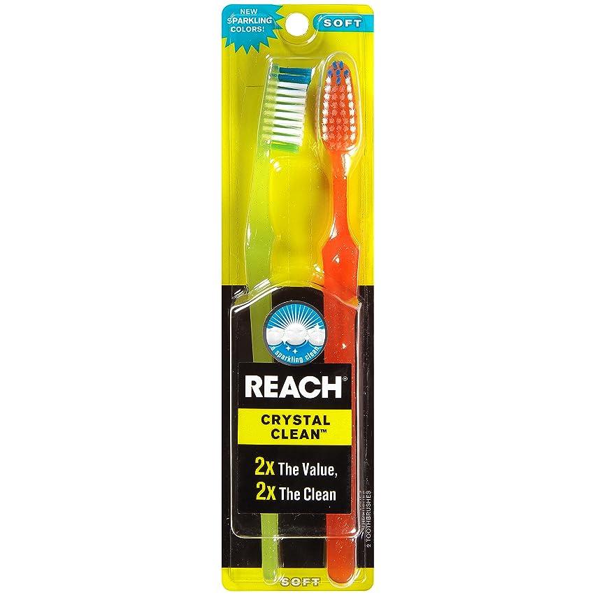 騙す上記の頭と肩デジタルReach Toothbrush Crystal Clean Soft Twin (6 Pieces) by Reach