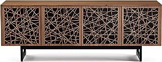 BDI 8779 RC-ME-WL Elements Quad Cabinet with Media Base, Ricochet Doors, Natural Walnut