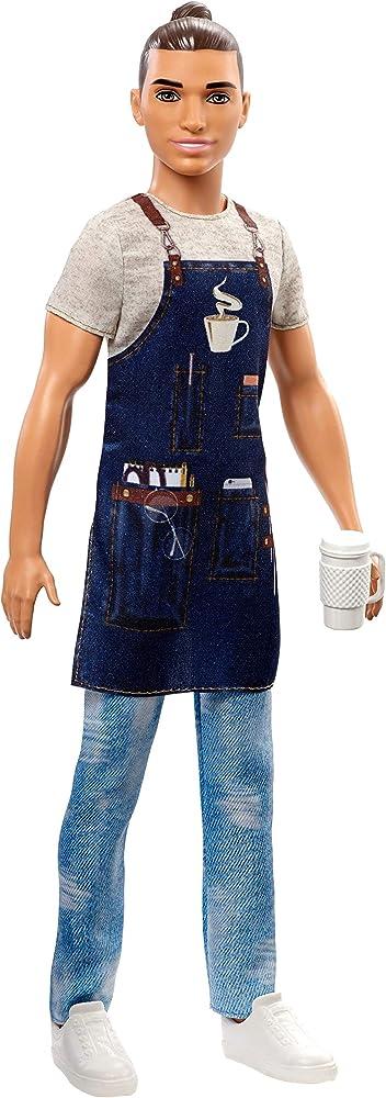 barbie ken barista bambola con accessori fxp03