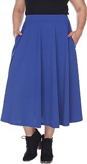 0d973bf515871 White Mark Women s Plus Size Tasmin Flare Midi Skirt