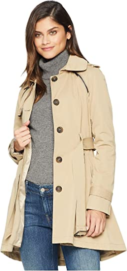 Pleated Skirt Trench Coat