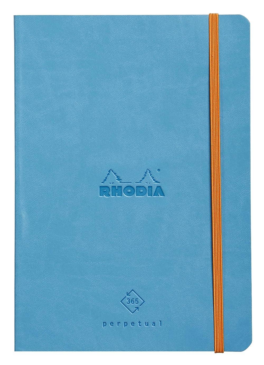 に付ける遊び場混乱したロディア Rhodiarama パーペチュアルノートブック A5 ターコイズ cf117187